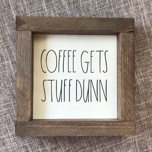 Rae Dunn knock-off wooden coffee kitchen sign